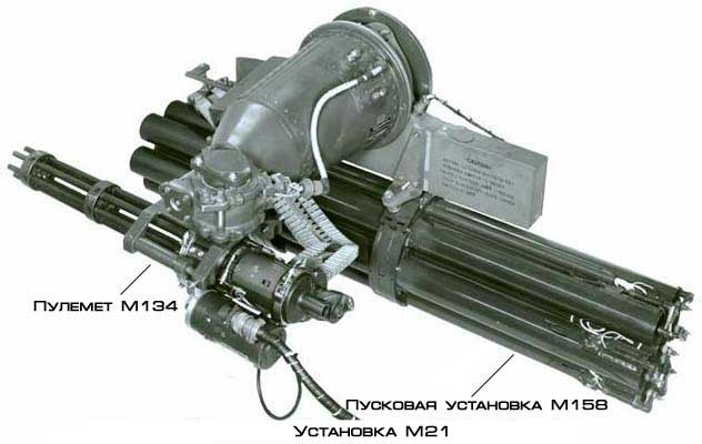многоствольный пулемет M134D '