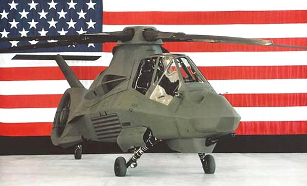 RAH-66 Comanche მრავალმიზნობრივი მზვერავ-დამრტყველი შვეულმფრენი(აშშ)