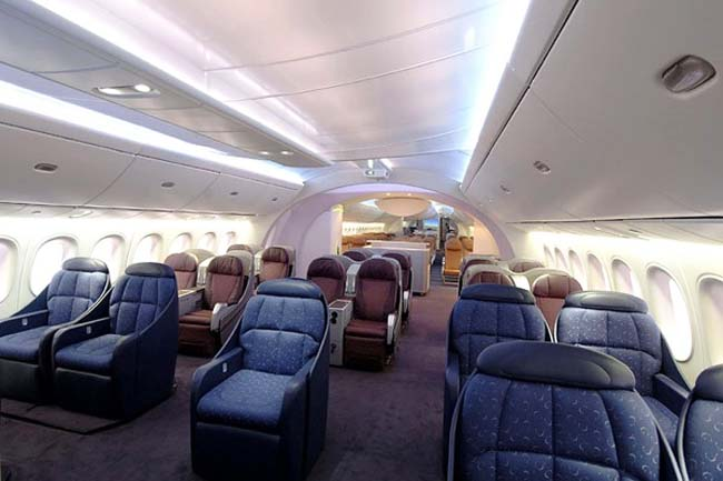 схема салона boeing 787-8 dreamliner