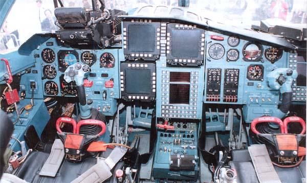 ...кабина у СУ-34.  У пилотов даже приборы разные ::) Не понятно...