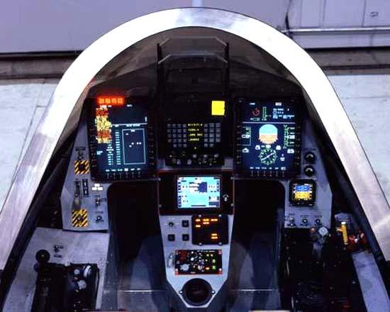 Кабина пилота X-35B