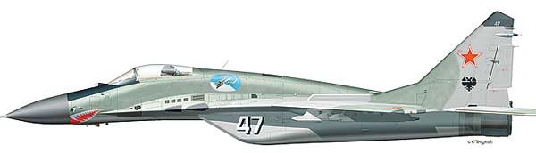 Схемы окраски Миг-29.