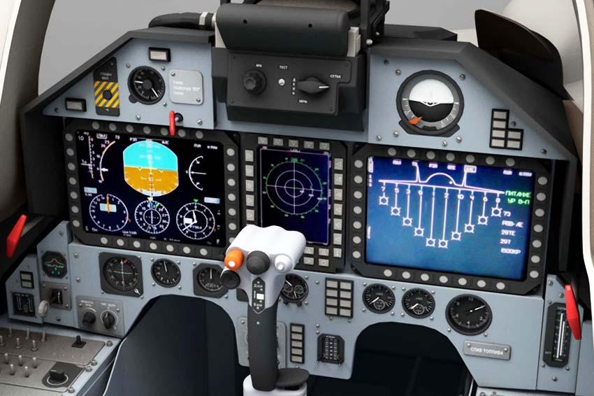 Кабина пилота Су-47