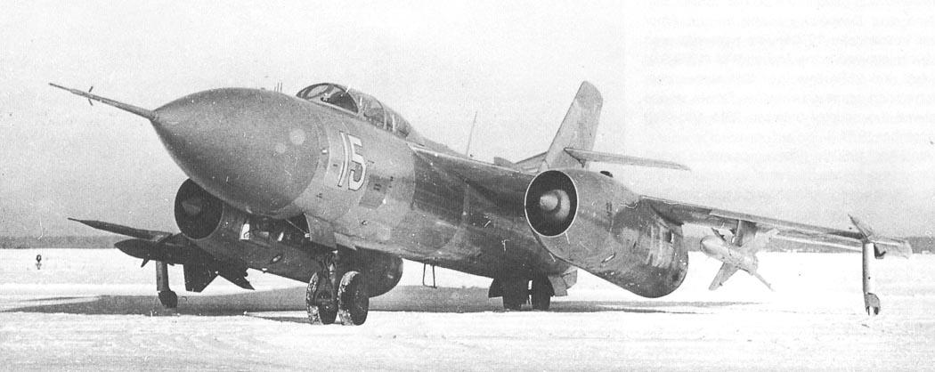 Опытный перехватчик Як-28П с