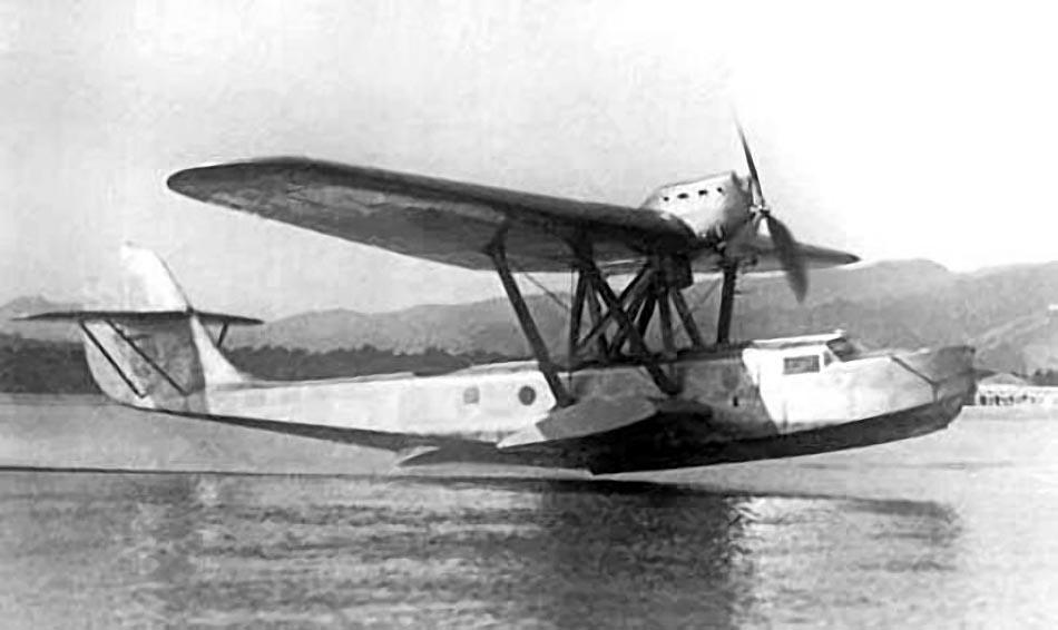 Romano R-5 при взлете