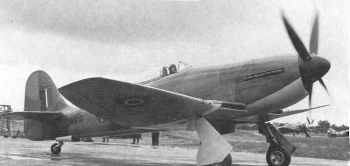 Опытный Tempest Mk.III для ВМС