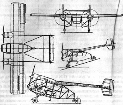 Схема самолета 'СКВ'