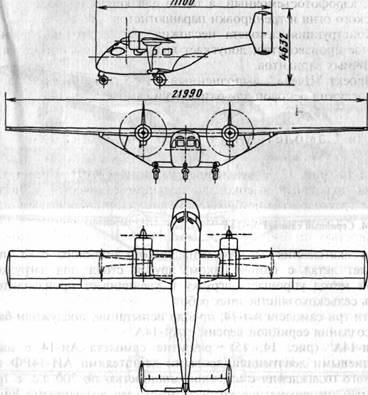 Схема самолета Ан-14