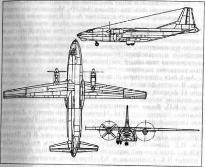 Схема самолета Ан-8