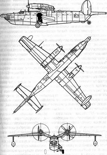 Схема самолета-амфибии Бе-12 '