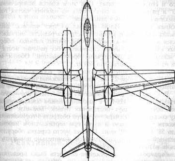 Схемы опытных самолетов Ил-46
