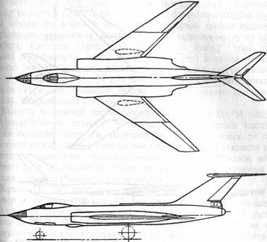 Первая схема самолета Ил-54