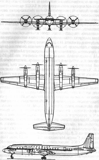 Схема самолета Ил-18