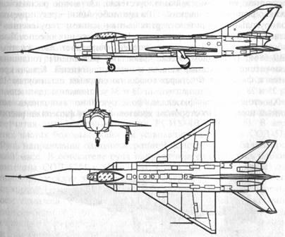 В носовой части расположена радиолокационная...  Рис. 176.  Схема самолета Т58Д-3.