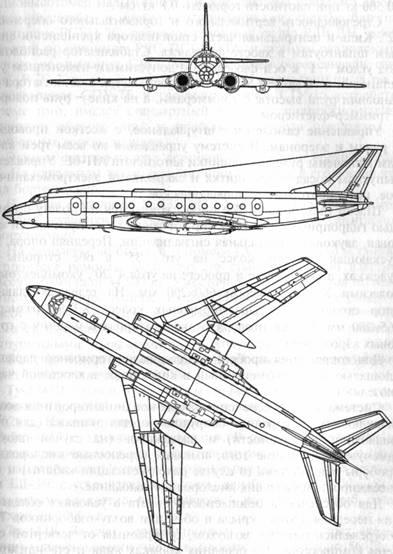 Схема самолета Ту-124