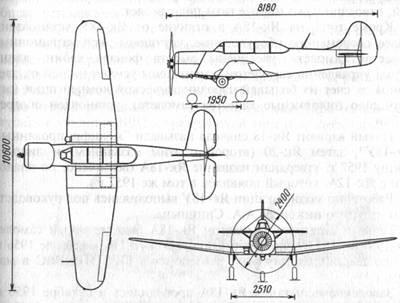Схема самолета Як-18А