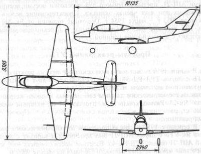 Схема самолета Як-30