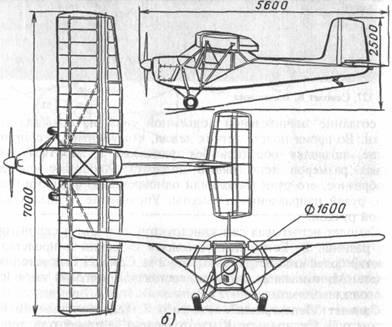 Схема самолета 'Ленинградец'