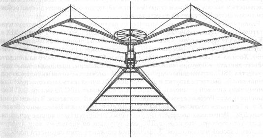 Схема самолета Ф.дю Тампля. Из