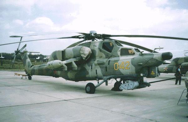 Ми-28 представляет собой вертолёт одновинтовой схемы с пятилопастным.
